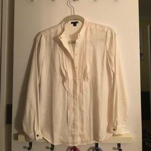 Cream crepe blouse!